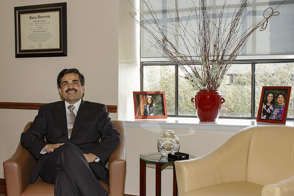 Dean Zoher F. Kapasi in his office.