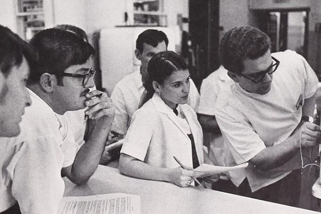 Pharmacy students in 1970