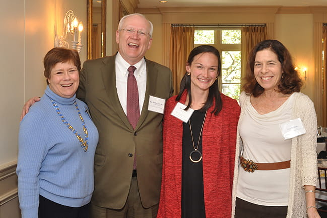 Dean DuBois and guests at the Scholars and Benefactors celebration