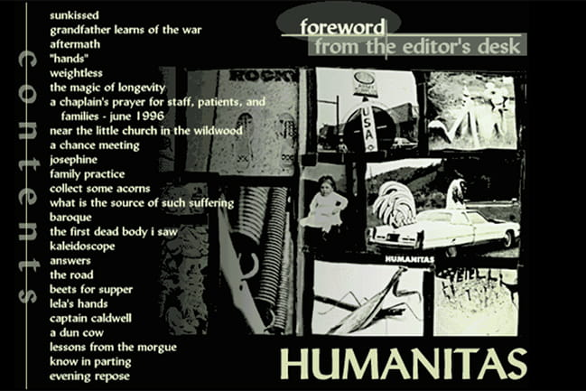 cover of 1997 Humanitas literary magazine
