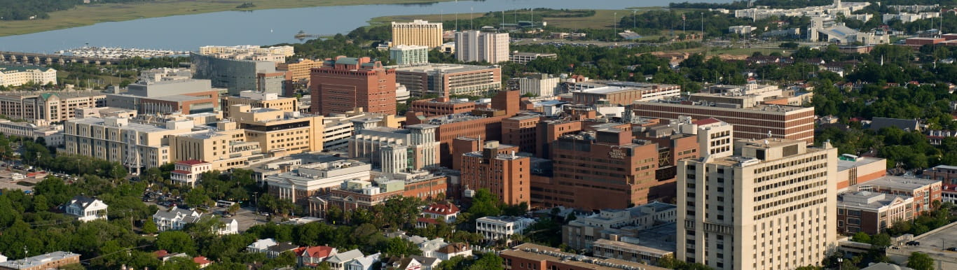 Aerial view of MUSC Campus