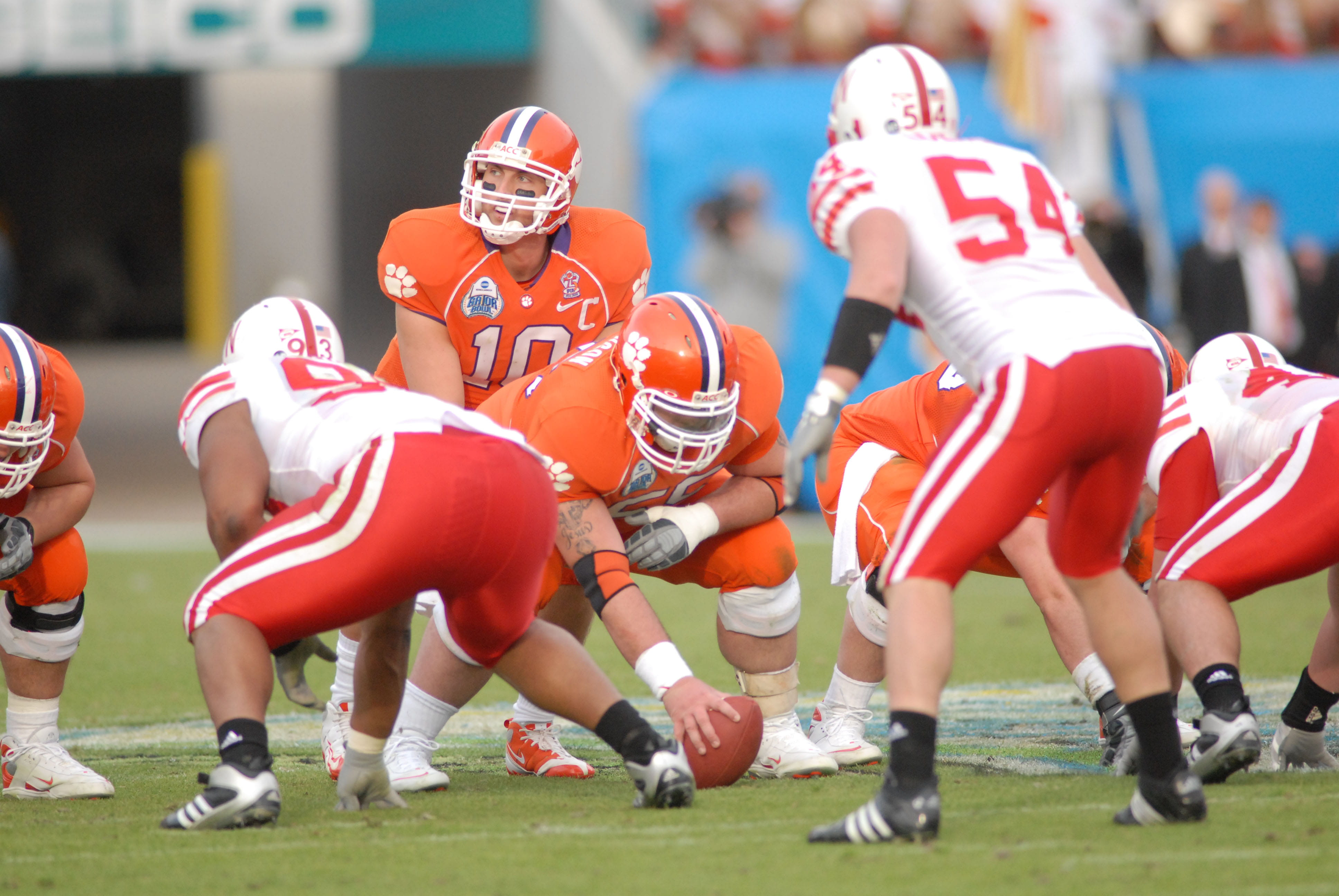 Former Clemson Tiger quarterback Cullen Harper takes a snap during a game in the 2008 season.