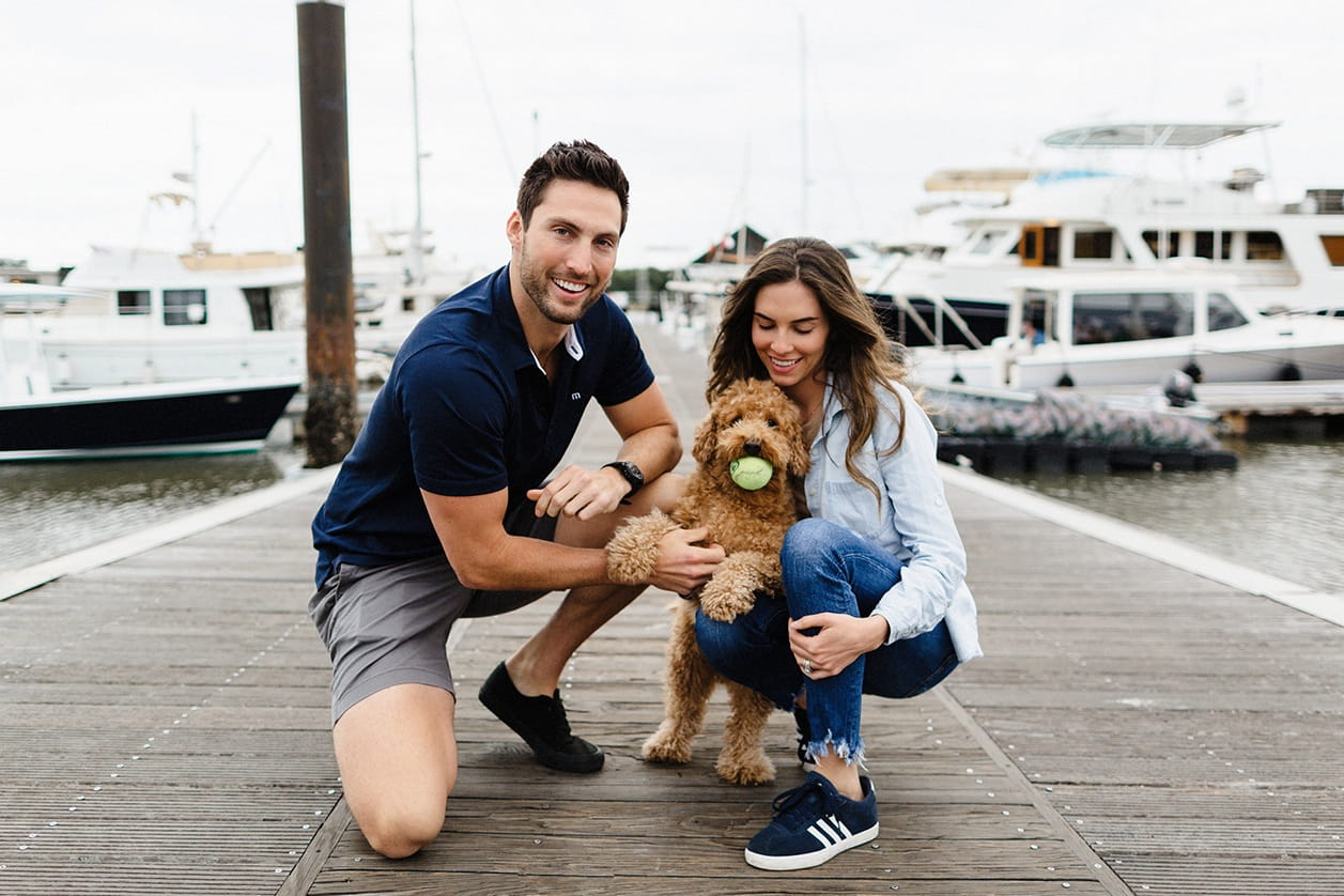 Harper and his wife enjoy the marina at Patriots Point in Mount Pleasant.