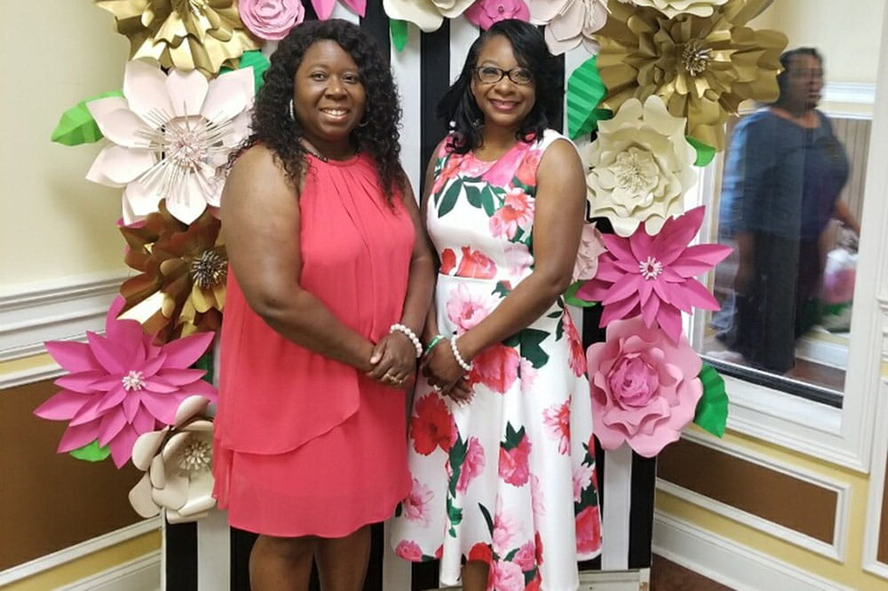 Roxanne Johnson and Michelle Brown-Nelson