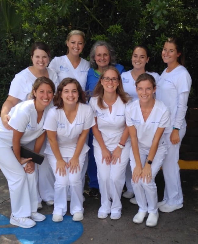 Tindall McRae with other members of her nursing class
